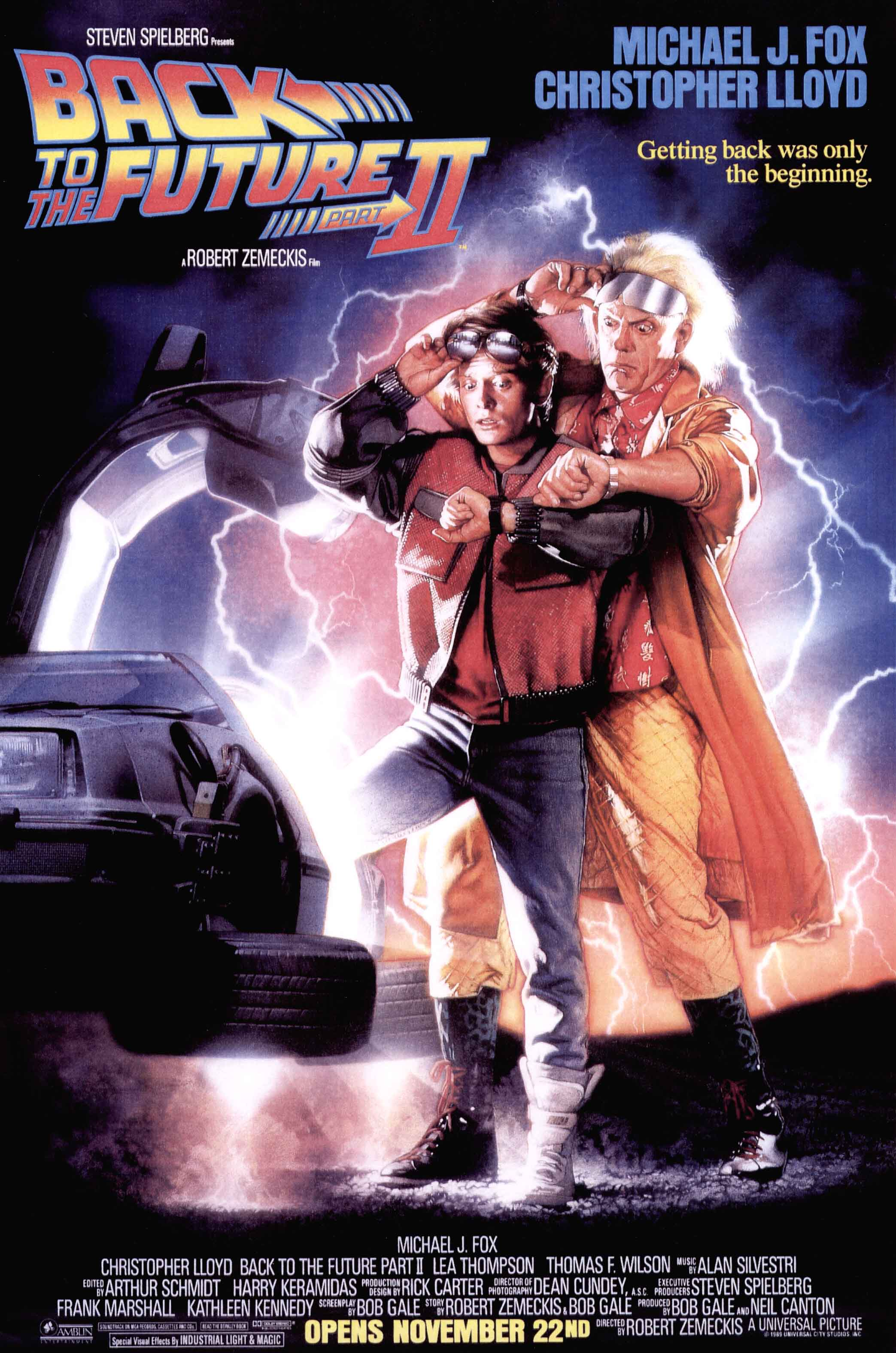 """""""Back to the Future Part II"""" theatrical teaser poster."""