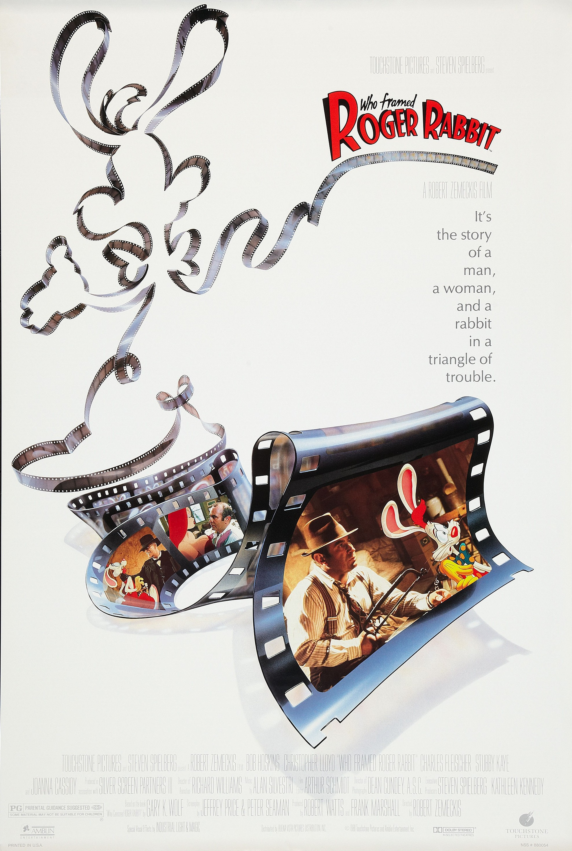 """""""Who Framed Roger Rabbit"""" theatrical poster."""