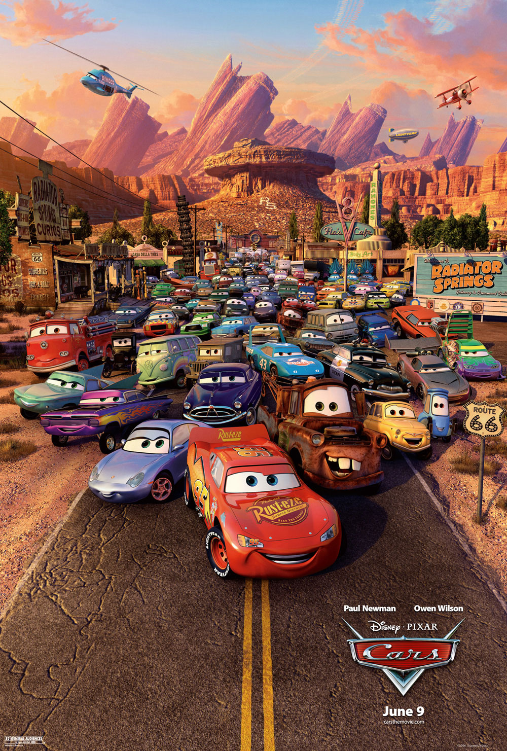 """Cars"" theatrical teaser poster."