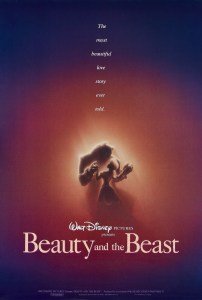 """Beauty and the Beast"" 1991 theatrical teaser poster."