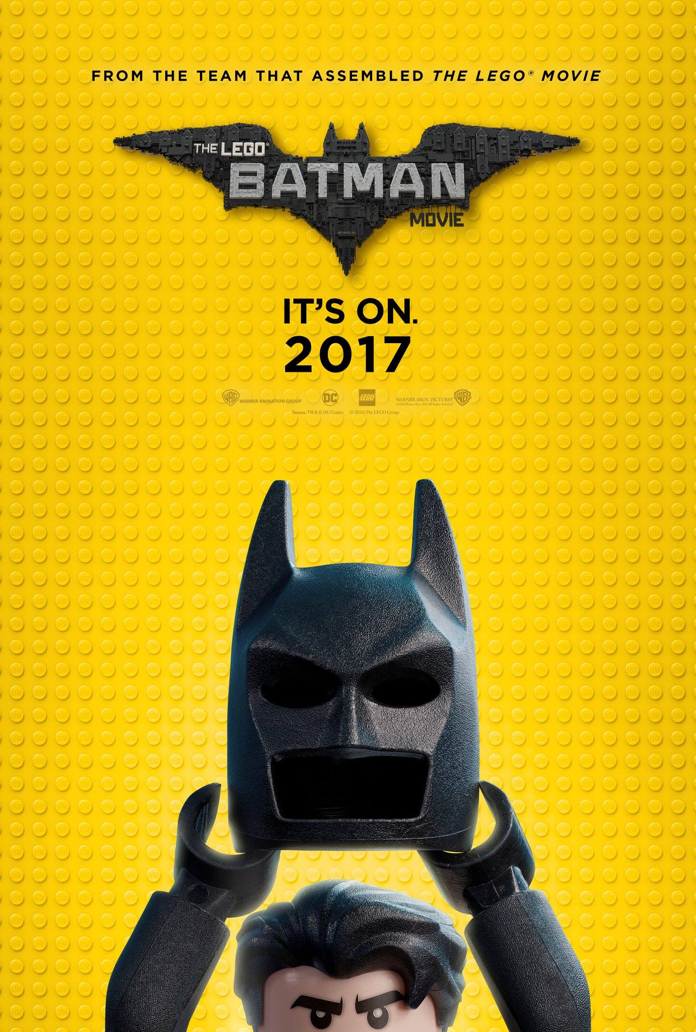 """The LEGO Batman Movie"" theatrical teaser poster."