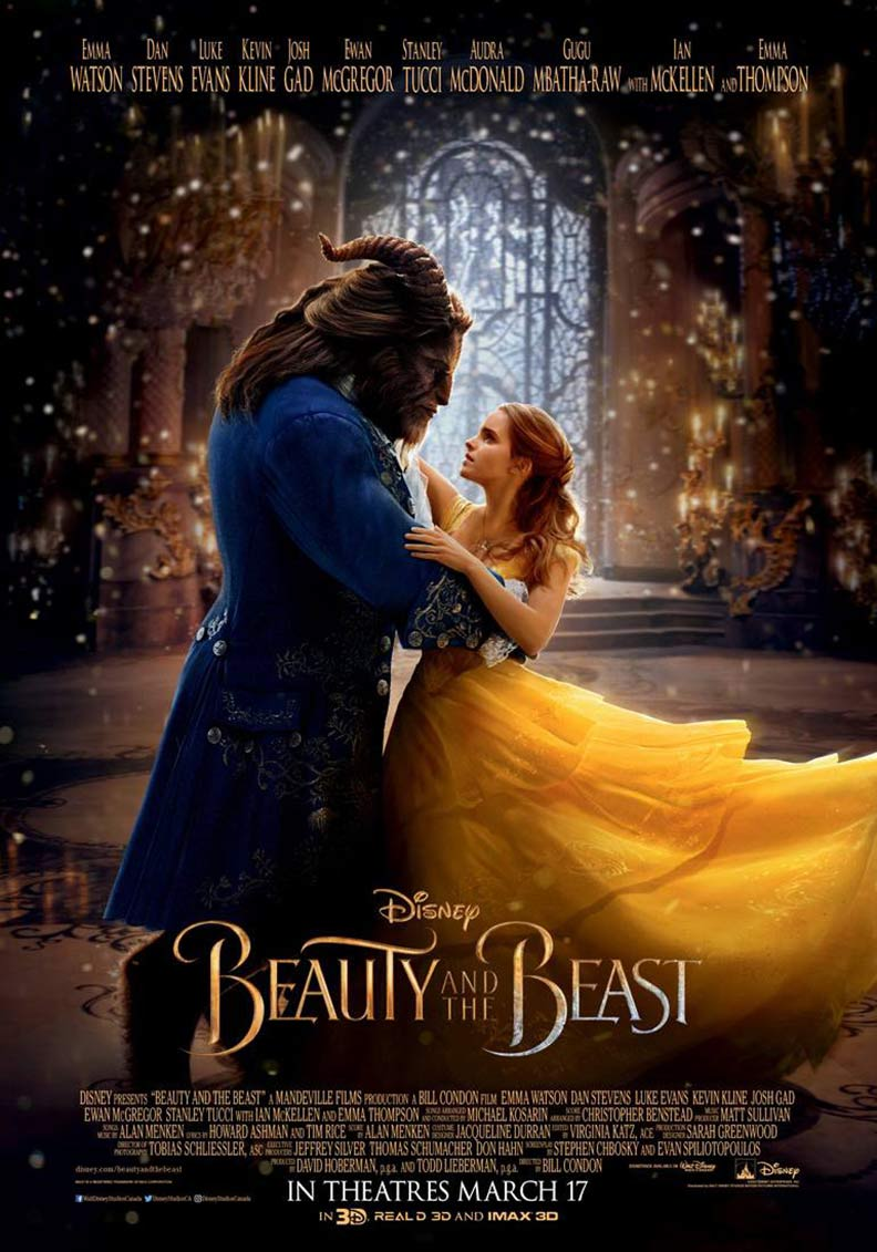 """Beauty and the Beast"" 2017 theatrical teaser poster."