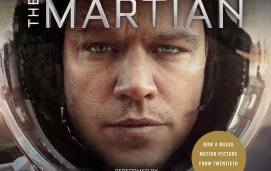 """The Martian"" by Andy Weir, audiobook read by R.C. Bray."