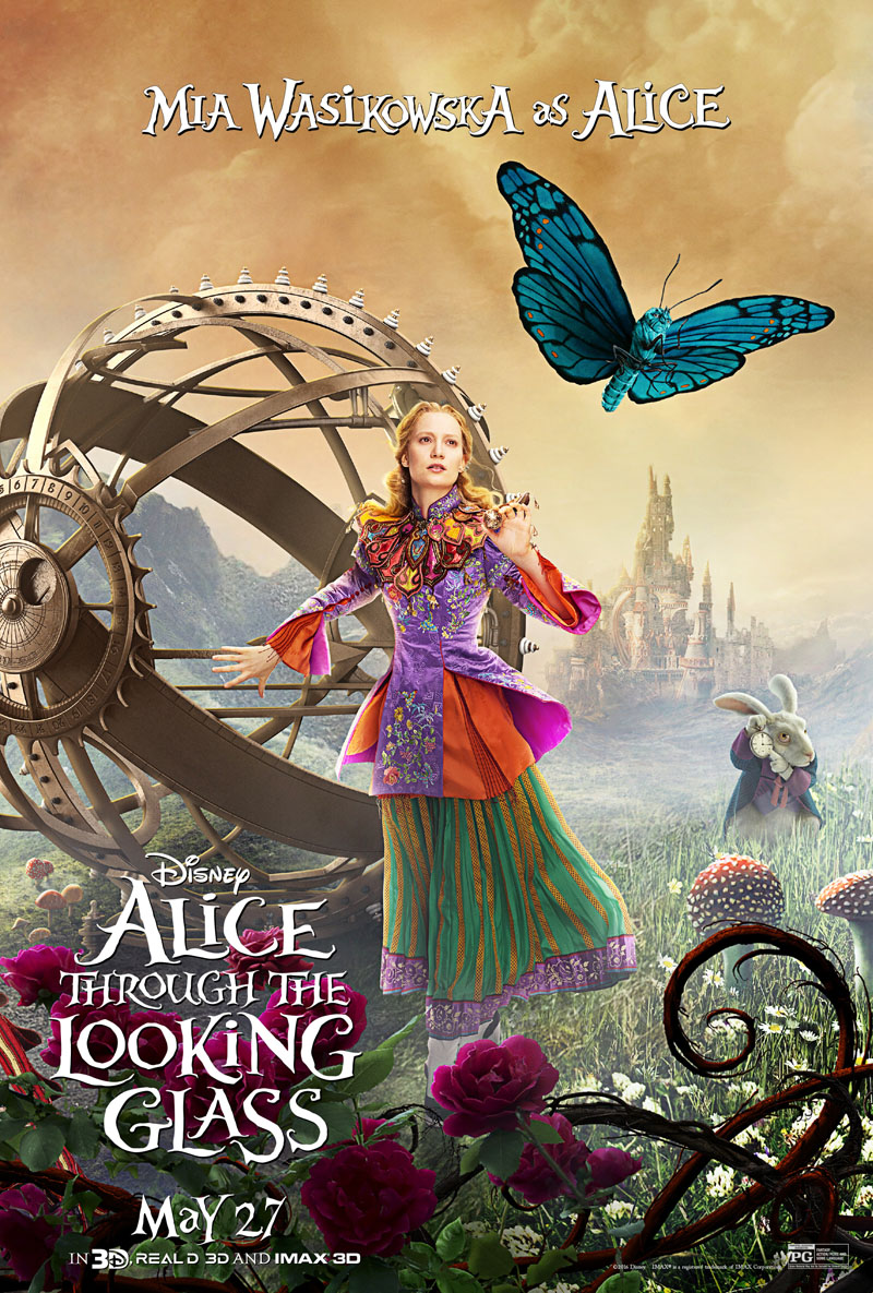 """Alice Through the Looking Glass"" theatrical teaser poster."