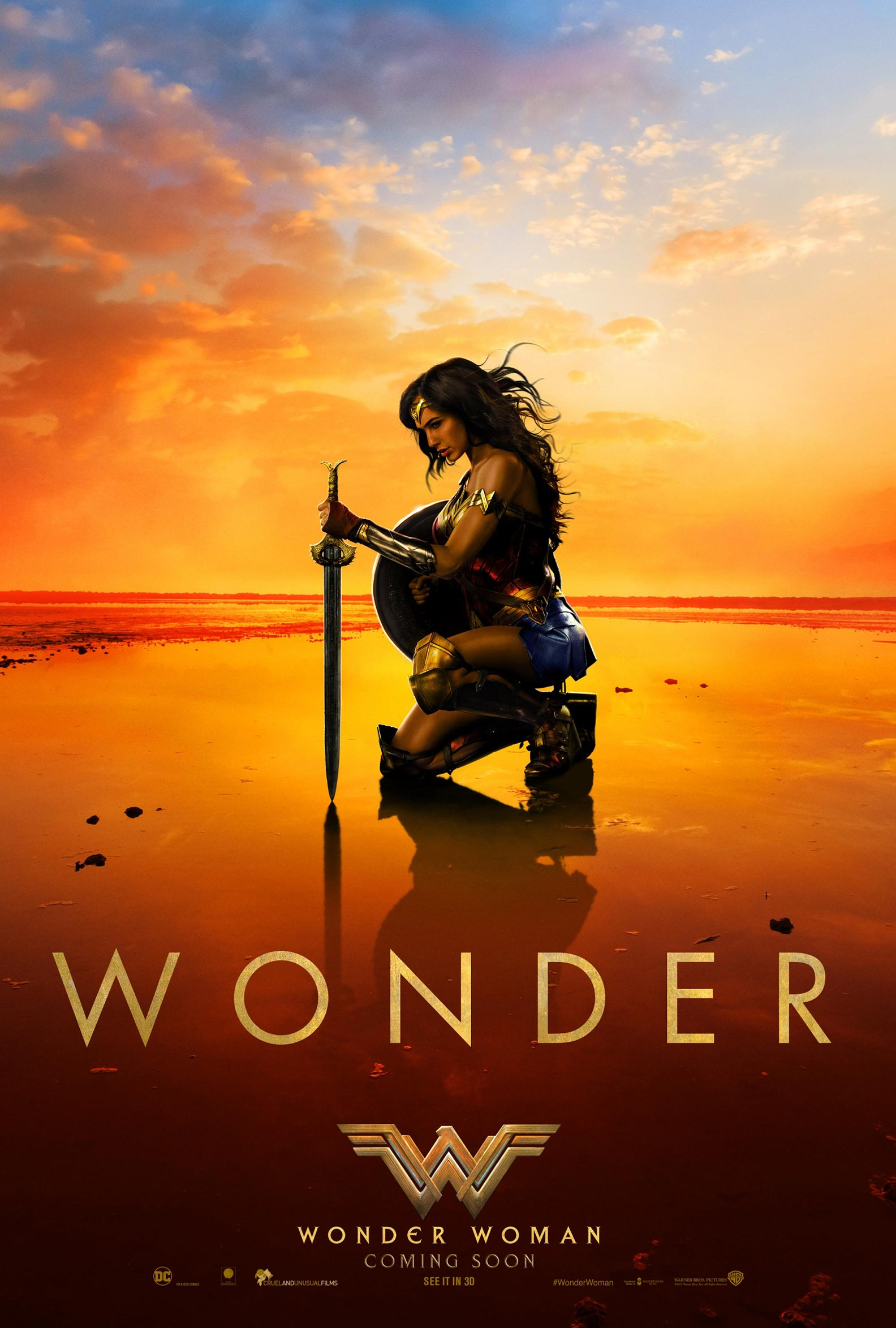 """Wonder Woman"" theatrical teaser poster."