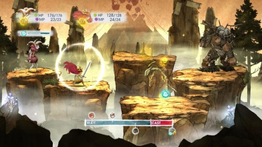 "Screenshot from ""Child of Light"" showing the gorgeous artwork."