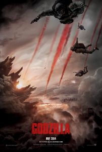 """Godzilla"" (2014) theatrical teaser poster."