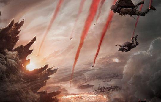 """Godzilla"" (2014) theatrical teaser poster."