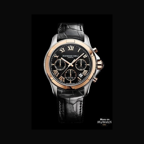Watch Raymond Weil Parsifal Chronographe 7260 Sc5 00208 Steel - Pink Gold