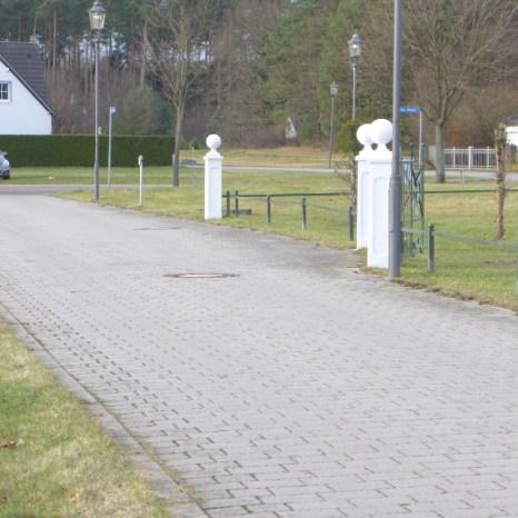 Der zukünftige Blick am Eingang stehend nach links