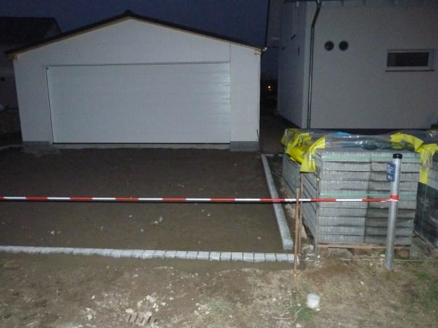 ... Garage vorbereitet