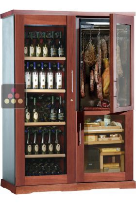 Gourmet combination  wine cabinet cigar humidor  cold