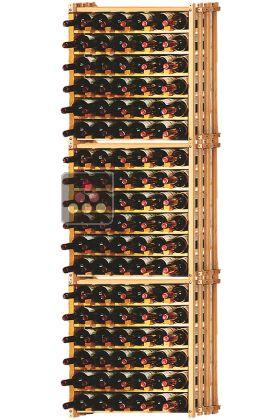 set of 3 modular beechwood racks for 114 bottles ma cave a vin aci mod620 my wine cabinet