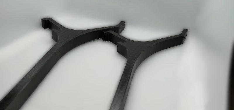 drukowane uchwyty montowane na ramie drukarki