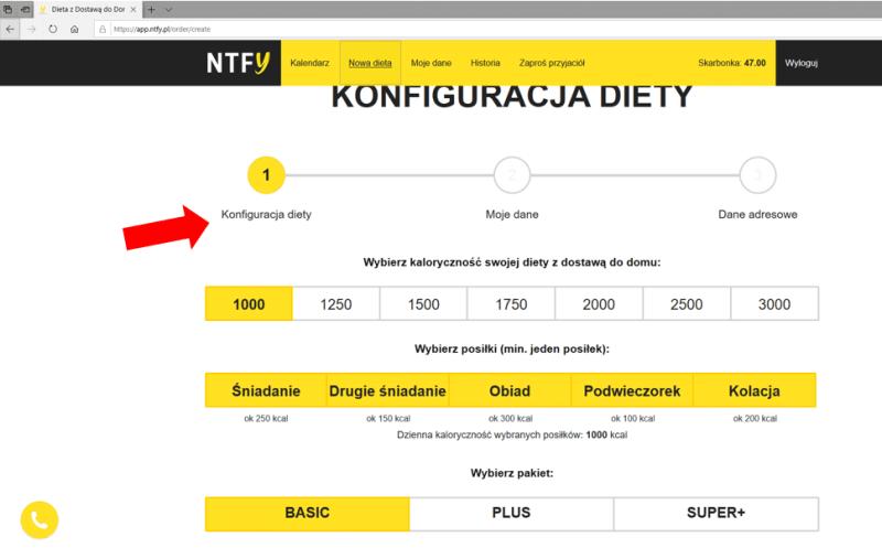 konfiguracja diety nice to fit you aplikacja webowa