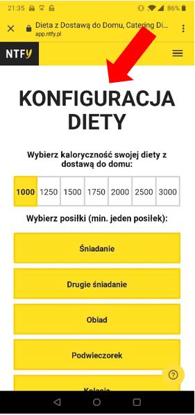 konfiguracja diety nice to fit you aplikacja mobilna