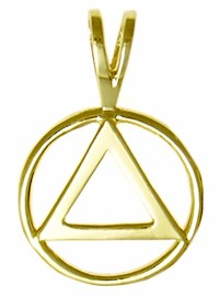 14K Gold AA Symbol Pendant