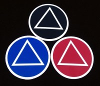 AA Symbol Sticker Set of 3