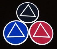 AA Symbol Sticker Set of 3