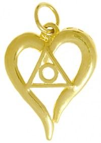 14k Gold Al-Anon Symbol Heart Pendant