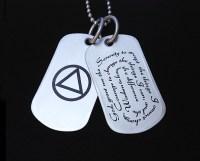 Serenity Prayer Necklace | AA Symbol Jewelry | My 12 Step ...