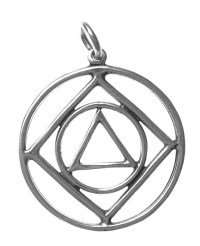 Dual Program AA & NA Sterling Silver Pendant