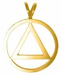 Brass Large AA Symbol Pendant
