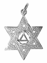 AA Sterling Silver Star of David