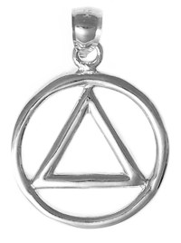 Sterling Silver AA Symbol Pendant Thick