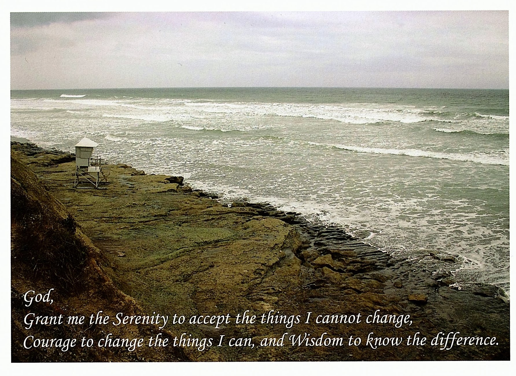 Serenity Prayer Waves Greeting Card