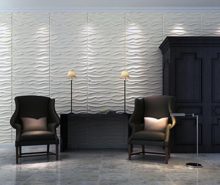Waterproof Fireproof Bamboo Fiber Wall Covering 3D Wall