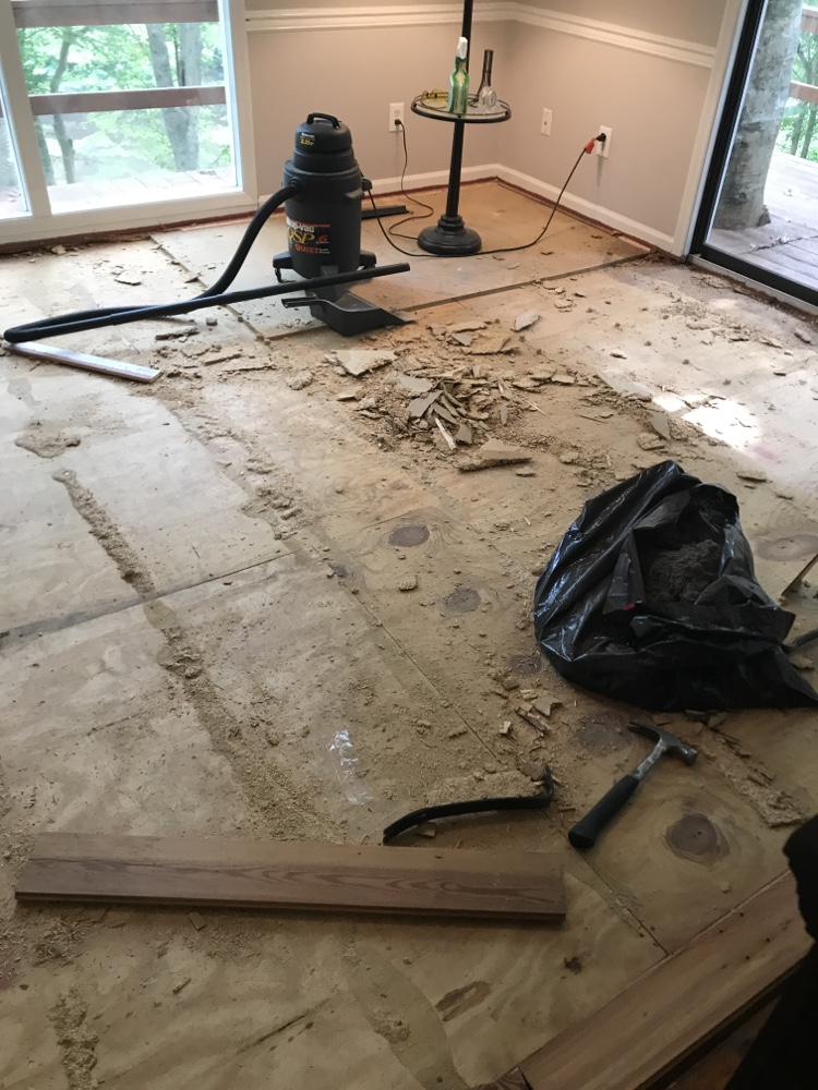 Replacing Old Carpet (part 2 Dining Room) 6