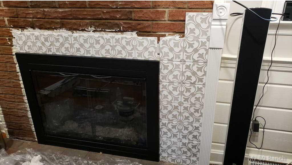 Tile a Fireplace