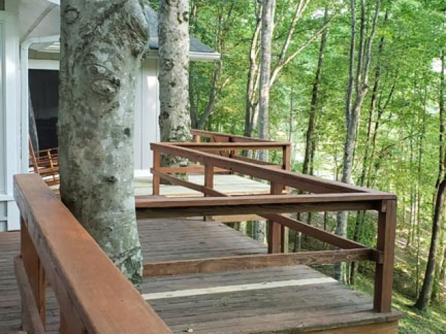 Deck Railing and back of house