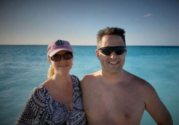 On the blue water at Turks and Caicos