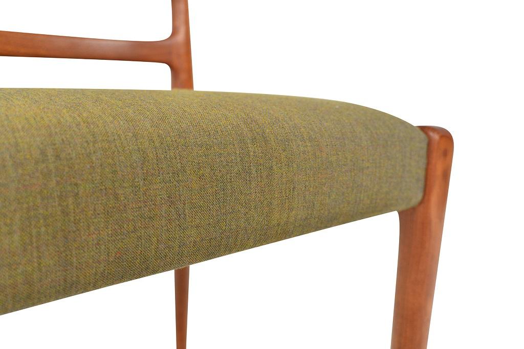 Danish Mid-Century Kvadrat Remix wool Green seat material