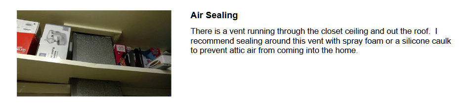 Save Energy with sealing opening in ceiling