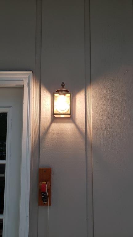 bighter light with an exterior polished brass light