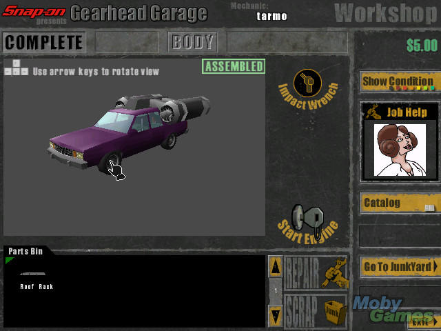 Download Snapon presents Gearhead Garage The Virtual Mechanic Windows  My Abandonware