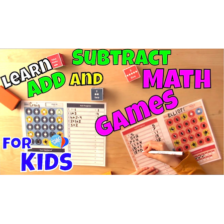 Learn How To Add And Subtract Playing Math Games | Cool Math Kids