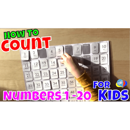 Learn How To Count Numbers 1-20 With A 100s Chart For Kids | Cool Math Kids