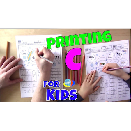 Learn How To Print Letter C For Kids | Language Arts Kids
