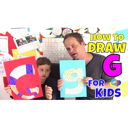 Learn How To Draw Letter G For Kids   Creative Art Kids