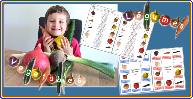 Vegetables-Légumes   Learn French And English With Elliot