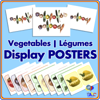 Vegetable | Légume Display POSTERS for Kids