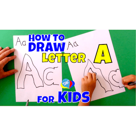 Easy Letter A Drawing For Kids | myABCdad Learning for Kids