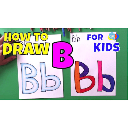 Learn How To Draw Letter B For Kids | Creative Art Kids