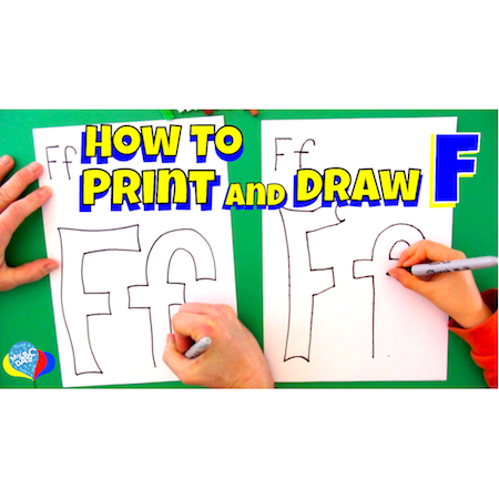How To Draw Letter F | Learning How To Draw Letters For Kids