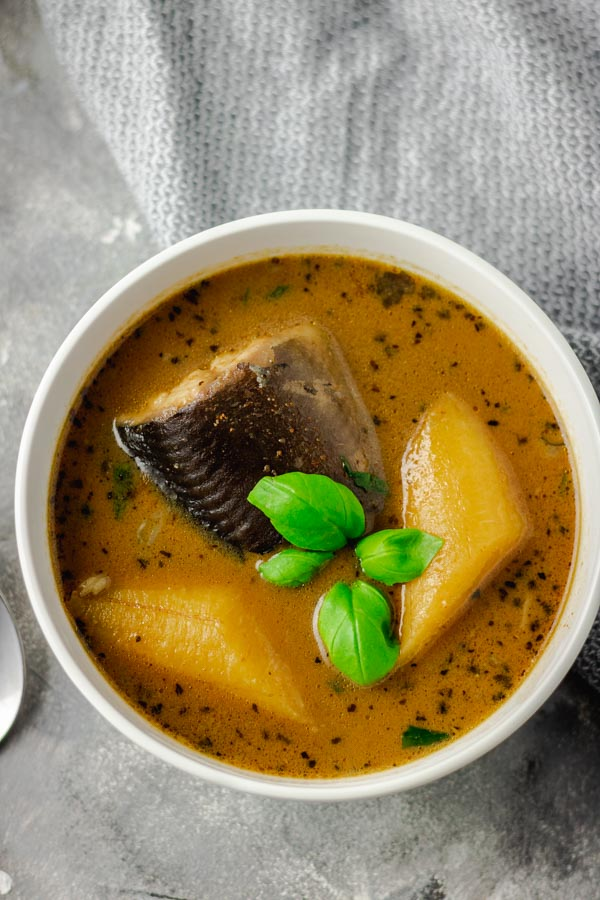 catfish pepper soup in two