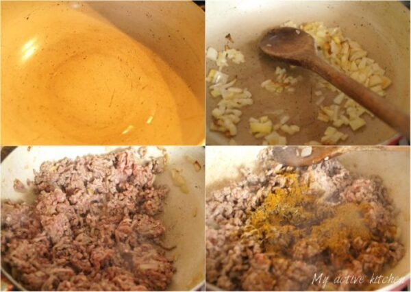 how to make beef mince filling in stages